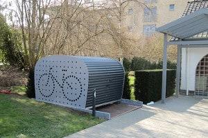 Provelo fietsenschuur fietsenschuurtje fietsschuur for Opbergsysteem schuur