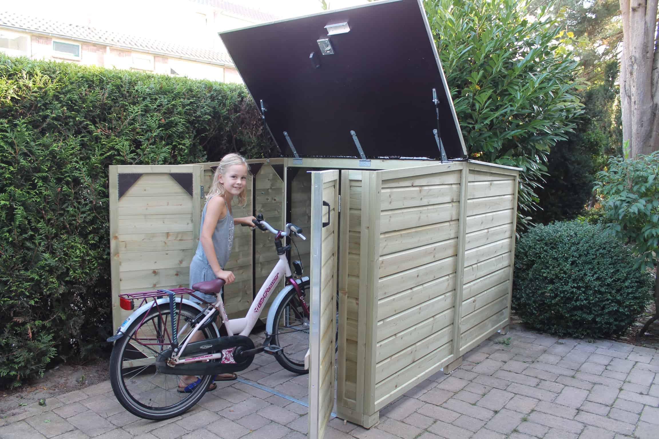 Houten fietsenberging LMF150-RG - ProVelo