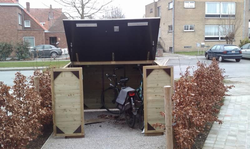 Houten fietsenberging provelo - Het huis van de cabriolet ...